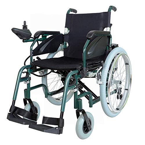 WXDP Self-propelled wheelchair,-Foldable Electric s, Electric, Intelligent Automatic Folding Lightweight Flat Lithium Battery Elderly Disabled Elderly Sco