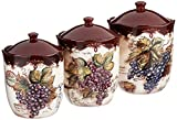 Certified International Corp Vintners Journal 3 piece Canister Set, Multicolor
