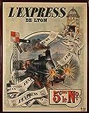 Lexpress Poster Blechschild De Lyon 1910 französischen