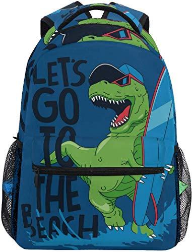 WKLNM grappige dinosaurus spelen de raad casual rugzak student school tas reizen wandelen camping laptop dagtas