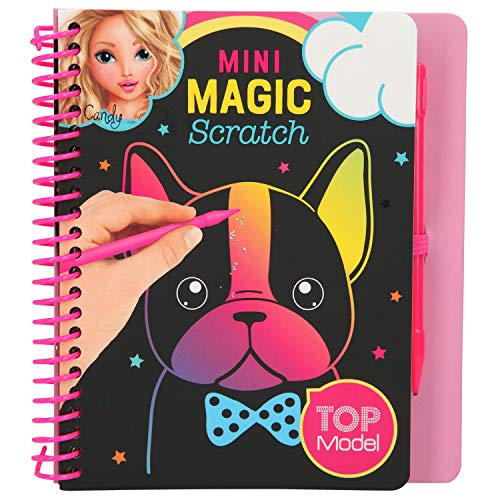 Depesche TopModel 10708 Mini Magic Scratch Book - Libro para Colorear