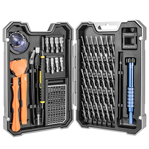 Set Cacciaviti Precisione Magnetici Professionali 54 in 1, Kit Cacciavite di Riparazione Portatile per Orologio, Occhiali, iPhone, iPad, Smartphone, PC, Laptop, Tablet, Elettronica ecc.