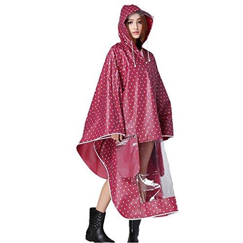 G-Kids Regenponcho voor dames, voor motor, regenjas, waterdicht, punten, trenchcoat, parka, regenkleding voor fiets en motorfiets