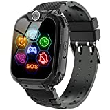 Smart Watch for Kids - Kids Smartwatch Boys Girls Kids Smart Watches with Call Camera 7 Children Learning Games Alarm Clock Music Player Calculator for 4-12 Years Kids Electronic Learning Toys (Black)
