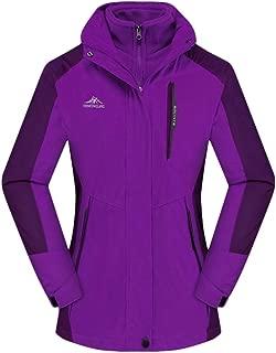 PAQOZ Womens Coats, Waterproof Hoodie Detachable Breathable Sport Two-Piece Set Outdoor Coat