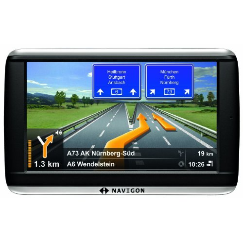 NAVIGON 42 Plus Navigationssystem (10,9cm (4,3 Zoll) Display, Europa 44, TMC, NAVIGON Flow, Text-to-Speech, Aktiver Fahrspurassistent)