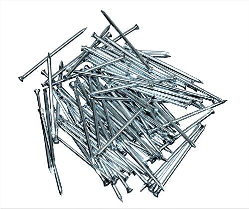 SN-TEC Sockelleistenstifte/kleine Nägel 1,4 x 45 mm (200 Stück) mit Riffelung am Schaft für besseren Halt
