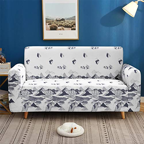 Fundas de Sofa elasticas Seccional para sofá de 1 2 3 4 plazas, fundas de sofá de 3 asientos,funda de sofá suaves para perros niños mascotas,protector de muebles para sala de estar (gris)(Color:Wh