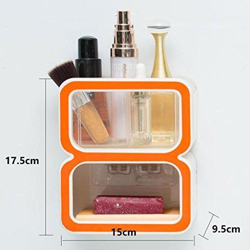 Tapis de bain Xuan - Worth Having Créative numéro 8 Style Orange Porte-Savon Ventouse Type étagère
