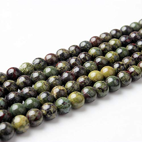 6 8 10 12Mm Fashion Natural The Dragon Blood Stone Loose Beads Suitable For DIY Bracelet Necklace Make The dragon blood 10mm 38beads
