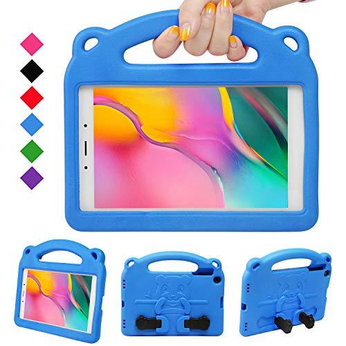 NEWSTYLE Kinder Hülle für Samsung Galaxy Tab A 8.0 Inch 2019, Leicht, Stoßfest, Griff für Kinder, Einzigartig Ständer für Tab A 8.0 Inch 2019 SM-P290/P295 Release (Blau)