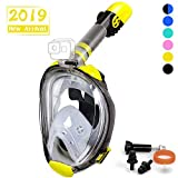 OUSPT Full Face Snorkel Mask, Snorkeling Mask with Detachable Camera Mount, Panoramic 194° View...