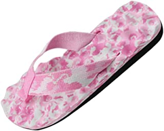 5716b251087cf Mysky Fashion Women Summer Floral Print Beach Clip Toe Slippers Ladies  Casual Simple Indoor   Outdoor