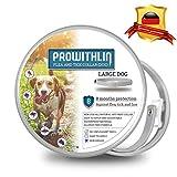 prowithlin Collar Antiparasitario para Perros, 62cm Natural Collar Anti-pulgas Ajustable 8 Meses de Prevención Talla Unica para Todos