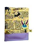 Funda artesanal grande para libros y tablets de Animales Fantásticos + marcapáginas de regalo, funda de algodón ecológico, acolchada inspirada en Harry Potter. Regalo ideal para adolescentes