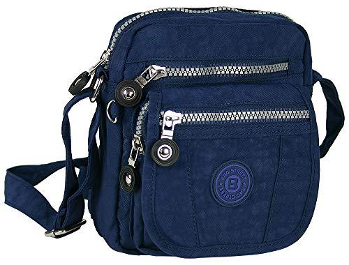 Kleine Handtasche Leichte Schultertasche Bequeme Umhängetasche klein (Navy)