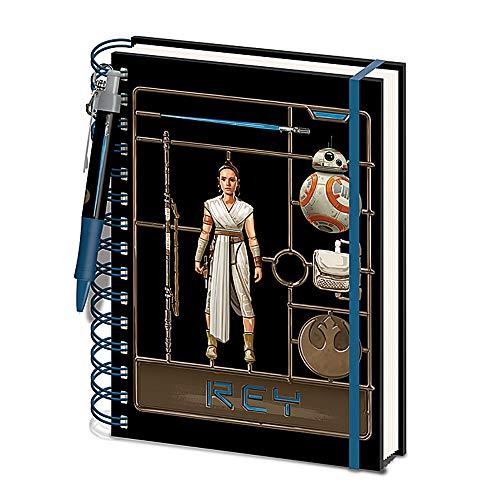 Juego de bolígrafos de tapa dura A5 de Star Wars Rey The Rise of Skywalker