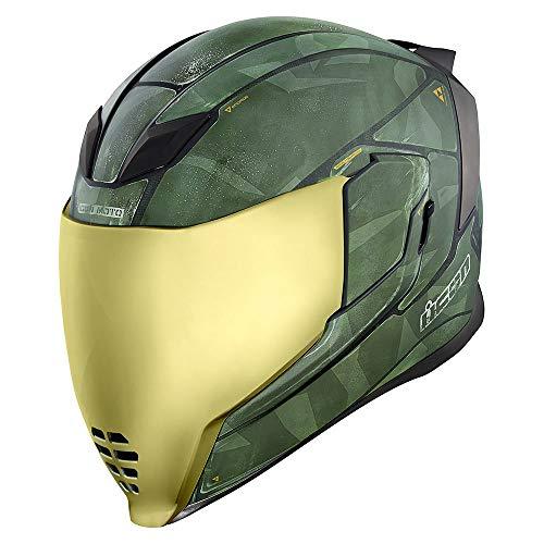 Icon Helm Airflite Battlescar 2 Motorradhelm Integralhelm grün matt, M