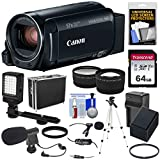 Canon Vixia HF R82 32GB Wi-Fi 1080p HD Video Camera Camcorder + 64GB Card + Battery & Charger + Hard...