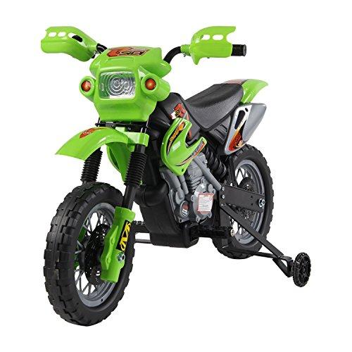 HOMCOM Kinderauto Kinderwagen Elektroauto Kinderfahrzeug Kindermotorrad Quad Elektroquad Kinderquad Elektromotorrad (Motorrad/grün)