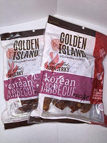Golden Island - Jerky de cerdo estilo natural, receta de barbacoa coreana, 14 onzas (2 unidades) por Golden Island