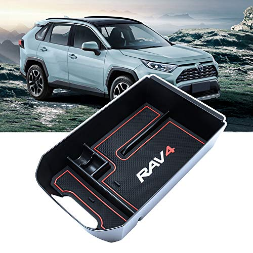 BAOYOU for Toyota RAV4 Accessories Center Console Organizer Tray Armrest Box Secondary Storage Fit...