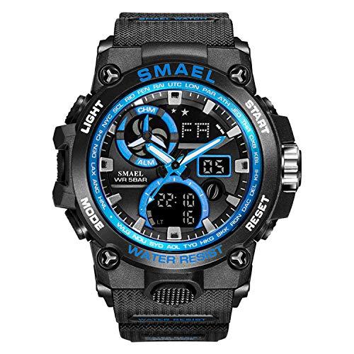 Relojes para Hombre Militar Sport Sport Watch 50m Relojes De Pulsera Impermeables (Blackblue)