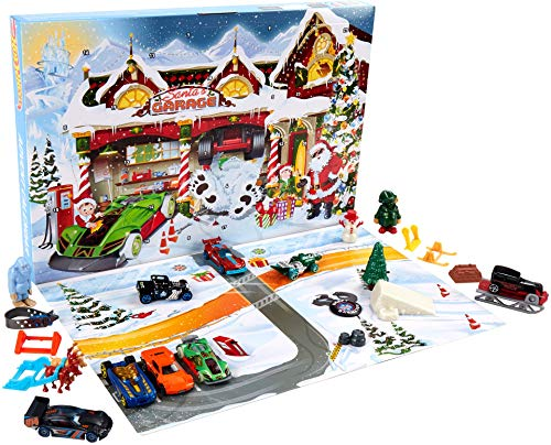 Hot Wheels Advent Calendar 24 Day Holiday Surprises with Cars and Accessories Ages 3 and Older