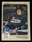 Frank Viola Autographed 1983 Fleer Rookie Baseball Card (minnesota Twins) - Baseball Slabbed Autographed Cards. rookie card picture