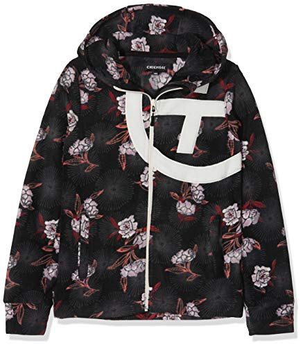 Chiemsee Kinder angesagten PlusMinus-Design Fleecejacke, Black/Red, 158/164