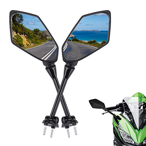 Motorcycle Mirrors Rear View for Ninja 650R Mirrors 2009-2017 NINJA ER6F ER-6F 2009-2012 NINJA 400R 2010-2014 Ninja 1000 Side Mirror