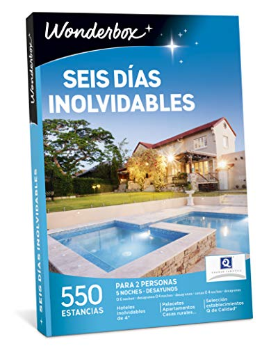WONDERBOX Caja Regalo - Seis DÍAS INOLVIDABLES - 550 estancias en España y Europa
