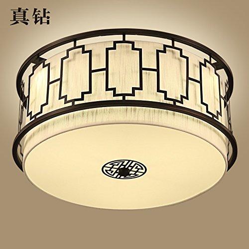 BRIGHTLLT Lampe de plafond chinoise moderne moderne Lumière ronde Chambre à coucher Chambre à coucher Salon Éclairage créatif antique antique chinois, 500 * 250 mm