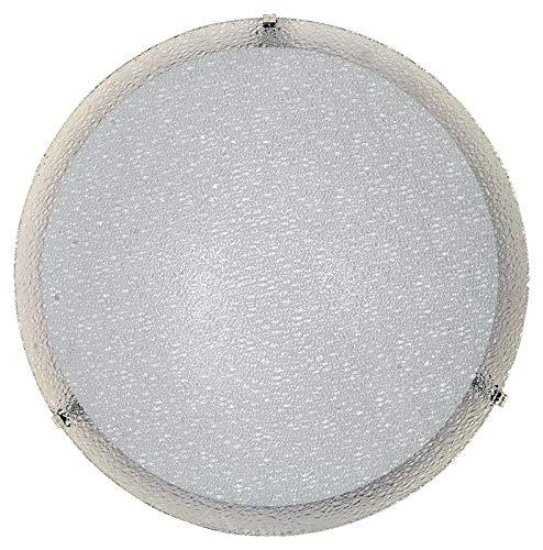E-ENERGY Gaia Lampada Plafoniera da Soffitto in Vetro Moderna Rotonda Attacco E27 2 Luci 40cm
