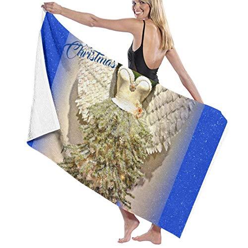 Angel Mannequin Dress Form Christmas Tree Bath Towels Super Soft Microfiber Beach Bath Towel Blanket For Travel Sports 31.4x51.8inch