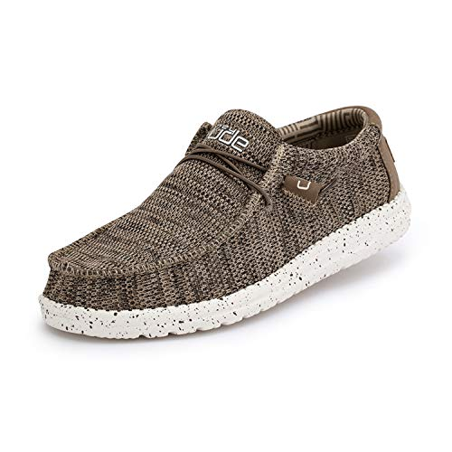 Hey Dude Men#039s Wally Sox Brown Size 12
