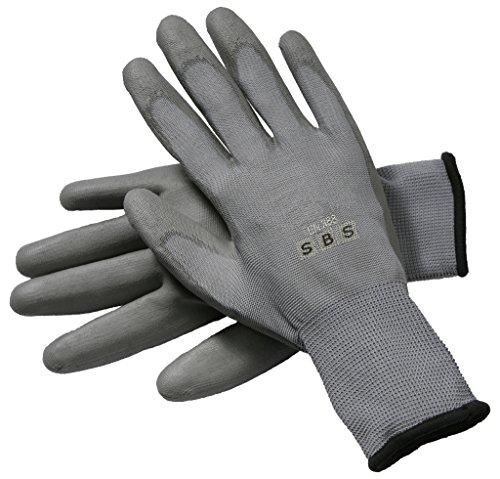Lot de 12 paires de gants en nylon taille au choix, de 7 à 11, noir, blanc, gris, bauhandschuhe gants de travail hase gants de montage