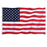 Jetlifee American Flag 8x12 Ft Embroidered Stars, Sewn Stripes, Brass Grommets US Flag Decorations, Outdoors Indoors USA Flags Polyester 8 x 12 Foot