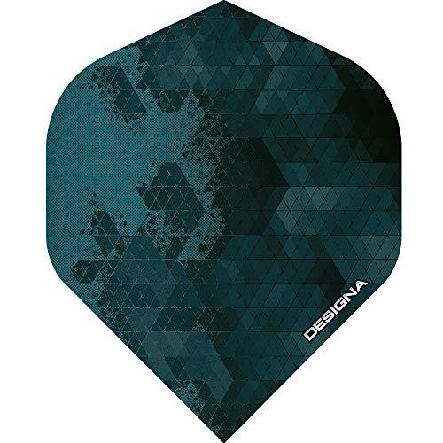 Unbekannt Designa Rock Dart-Flights, extra stark, 100 Mikron, Standardform, 10 Sets (30 Stück), Blau (Shadow Blue)