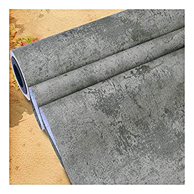 TJLMCORP - Concrete Wall Wallpaper, High Resolution Background Texture Image - Removable Wall Mural | Self-Adhesive Wallpaper - 15.7inch x118 inch (color2)