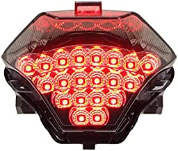 Integrated Sequential LED Tail Lights Smoke Lens for 2015-2017 Yamaha FZ-07 YZF R3