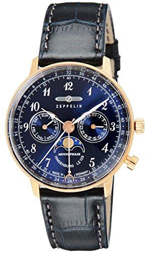[ツェッペリン] 腕時計 Hindenburg ネイビー文字盤 7039-3 並行輸入品 ブルー [並行輸入品]