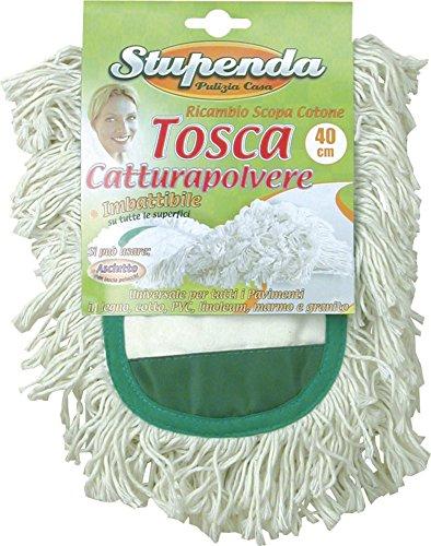 Ricambio scopa catturapolvere in cotone Tosca 40 cm