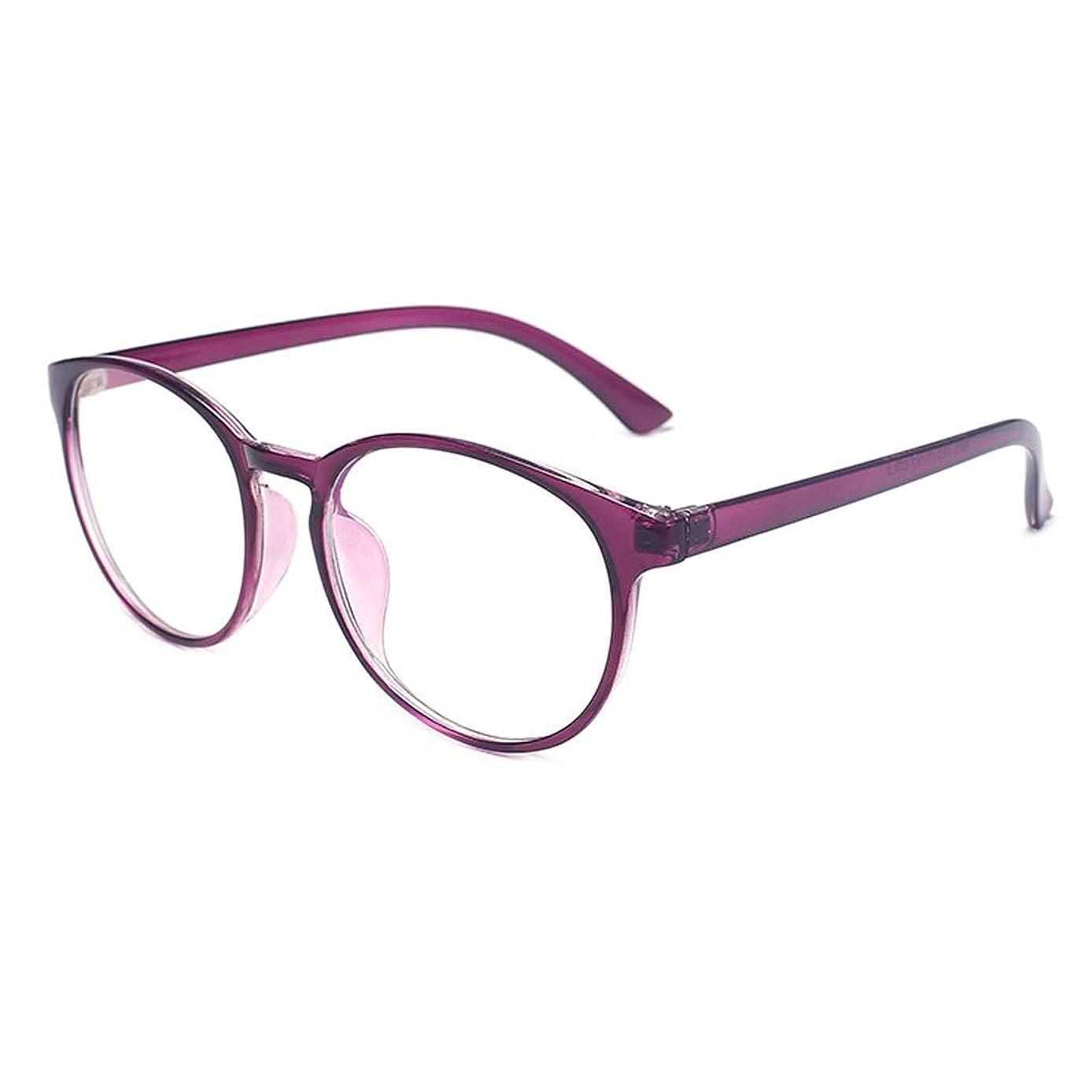 BMY Modern Simplicity Blue Light Blocking Glasses Safety Glasses for Computer/Phone Better Sleep [Anti Eye Fatigue] Unisex (Men/Women) (Color : Purple)