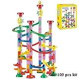 JKMQA Marble Run Race Track Building Blocks Kids 3D Maze Ball Roll Toy DIY Mármol Run Race Coaster Set 80/105/109 / 133pc (Color : 109pcs Original Box)