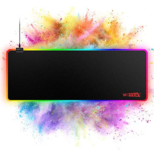 RGB Gaming Mouse Pad Large, RGB Mouse Pad with 14 Lighting Mode, Large Mouse Pad Gaming with No-Slip Rubber Base, Large Gaming Mouse Pads Optimized for Gamer- 31.5x11.8x0.15 in