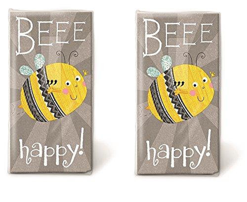 20 Taschentücher (2x 10) Beee happy / Biene