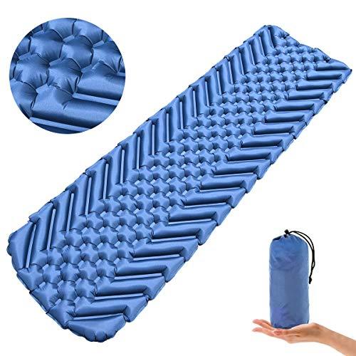 Osaloe Isomatte, Ultraleicht Camping Isomatte, Wasserdicht & Kompakt Aufblasbare Schlafmatte für Camping, Outdoor,Reise, Wandern, Strand