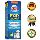 Cliny Universal Dogs & Cats Ear Cleaner Solution - Otic Ear Infection Treatment - Effective against Mite, Yeast, Fungus & Natural Odor Control Lotion