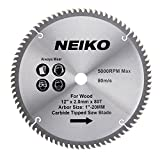 NEIKO 10768A 12' Carbide Saw Blade | 80...